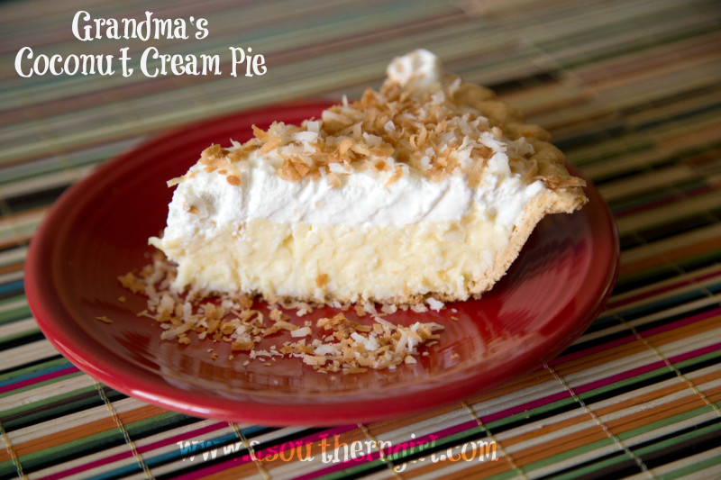 Grandma's Coconut Cream Pie Recipe